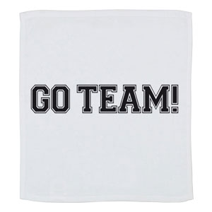 Go Team Towel - White