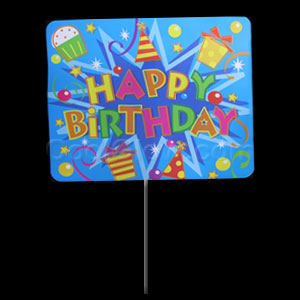 Party Yard Sign - Happy Birthday