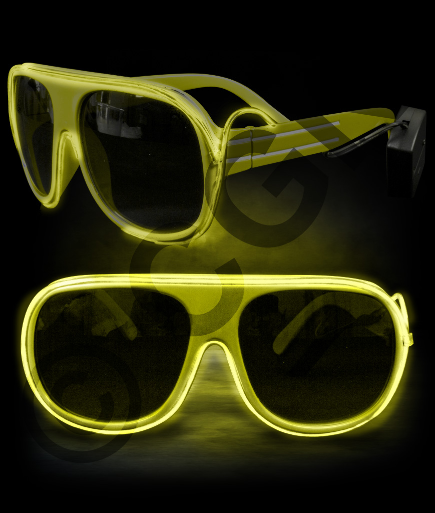 EL Aviator Glasses- Yellow