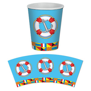 9 oz Nautical Cups- 8ct