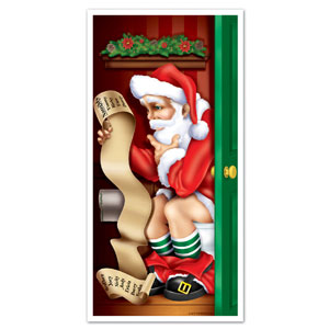 Santa Restroom Door Cover - 5ft