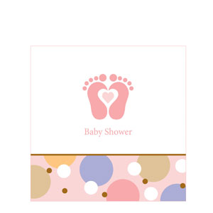 Tiny Toes Pink Luncheon Napkins
