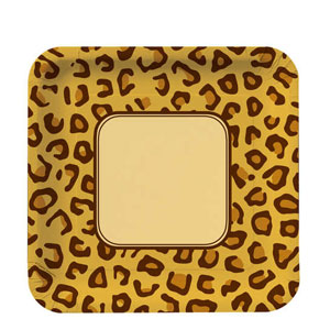 Leopard Print 10 Inch Plates- 8ct