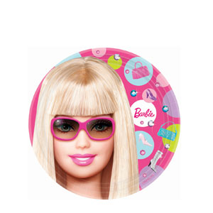 Barbie 7 Inch Plates- 8ct