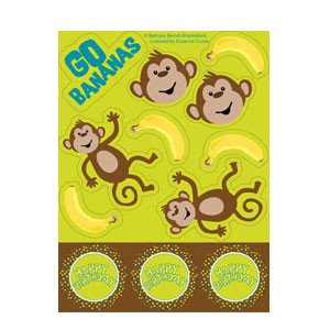 Monkeyin' Around Value Stickers- 4ct