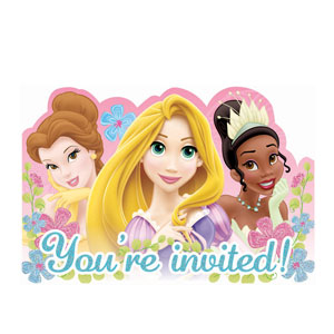 Disney Princess Invitations - 8ct