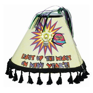 Lamp Shade Light Up New Years Hat- 11 Inch