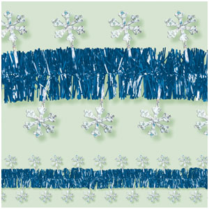Prismatic Snowflake Tinsel Garland- 15ft