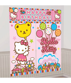 Hello Kitty Balloon Dreams Scene Setters- 5pc