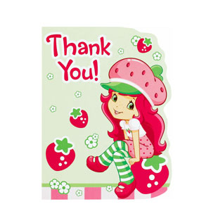 Strawberry Shortcake Thank You Cards- 8ct