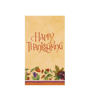 Thanksgiving Medley Guest Towels- 16ct