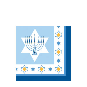 Hanukkah Lights Beverage Napkins