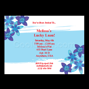 Blue Mahalo - Custom Invitations