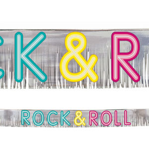 Rock and Roll Glitter Fringe Banner- 5ft