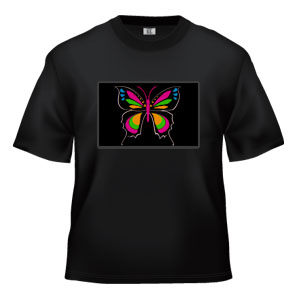 LED Sound Activated T-Shirt -Butterfly