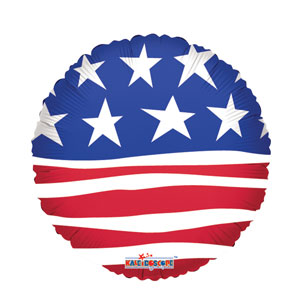 Modern Stars and Stripes Balloon- 18in