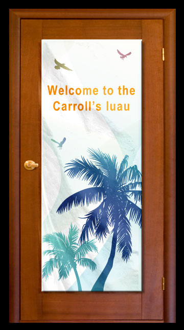 Palm Tree - Custom Door Banner