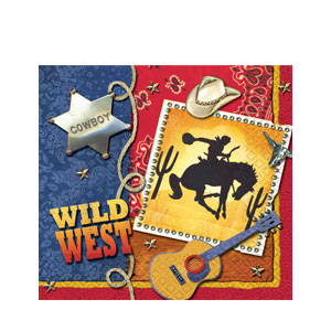 Wild West Luncheon Napkins - 16ct