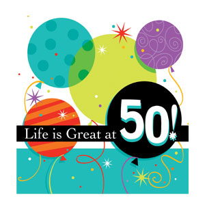 Life is Great at 50 Beverage Napkins -16ct