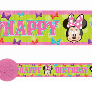 Disney Minnie Mouse Crepe Streamer- 30ft