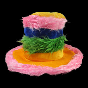 Furry Rainbow Hat