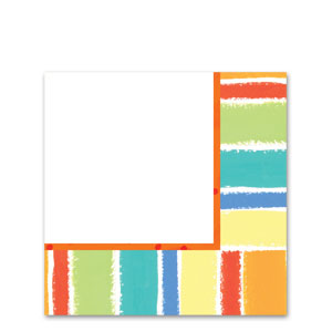 Sunshine Stripes Luncheon Napkins- 16ct