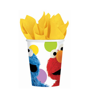Sesame Street Party 9 oz. Cups- 8ct