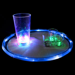 Light Up 14 Inch Serving Tray - Blue