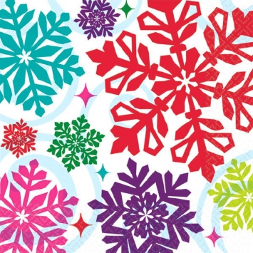 Bright Holiday Beverage Napkins