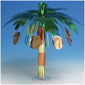 Coconut Tree Foil Centerpiece- 10in