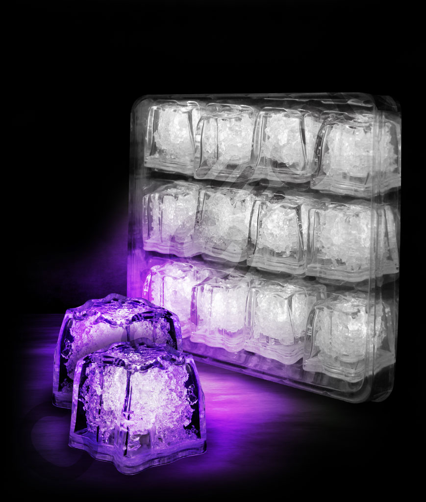 LED Litecubes Brand Ice Cubes - Purple