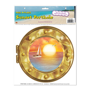 Sunset Porthole Peel 'N Place- 15in