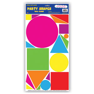 Party Shapes Peel n Place - 19ct Circle