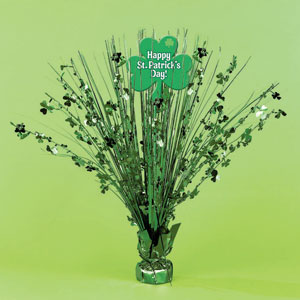 Shamrock Foil Spray Centerpiece-15 Inches