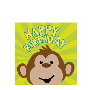 Monkeyin' Around Happy Birthday Napkins- 16ct