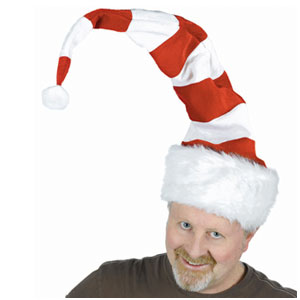 Striped Santa Hat- 32 Inch