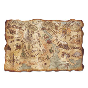 Plastic Gold Mine Treasure Map- 18in