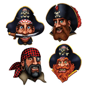 Pirate Crew Cutouts - 4ct