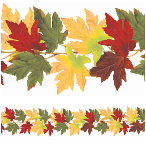 Fall Leaves Fabric Garland- 6ft