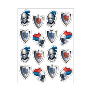 Valiant Knight Value Stickers - 4ct