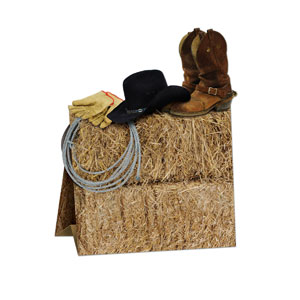 3-D Western Centerpiece- 11in