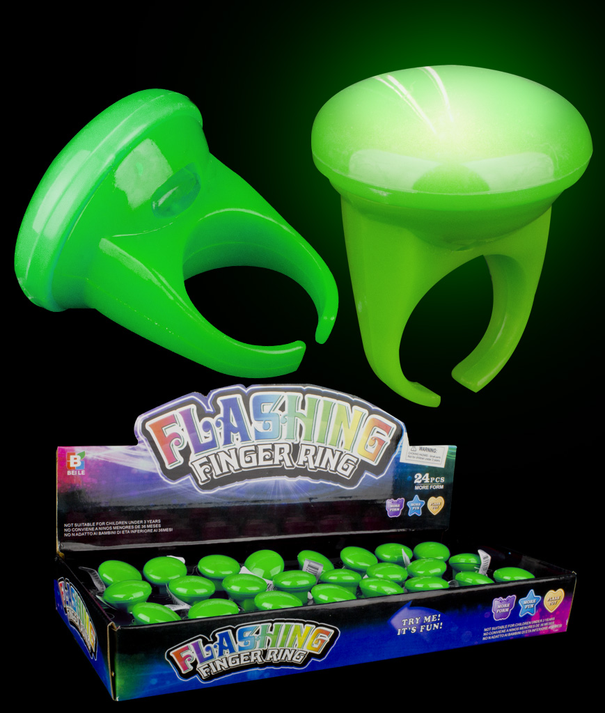 LED Glow Button Rings - Green