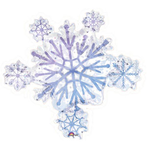 Holographic Snowflake Cluster - 32 Inch