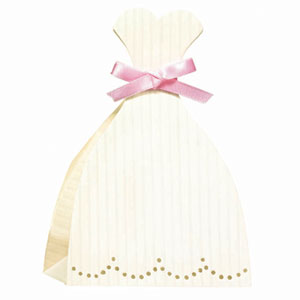Wedding Dress Favor Boxes - 12 Ct
