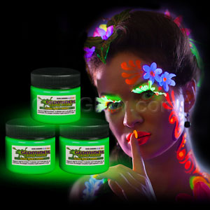Glominex Glow Body Paint 1 oz Jar - Green