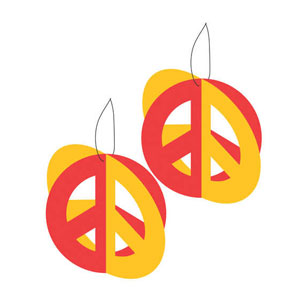 Tie Dye Fun Hanging 3-D Cutouts- 6ct