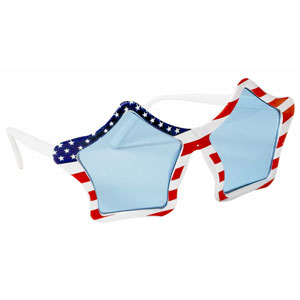 Patriotic Star Sunglasses - 6.5 Inch