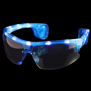 LED Sporty Sunglasses - Blue