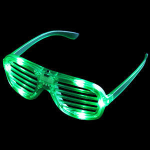 LED Shutter Shades - Green