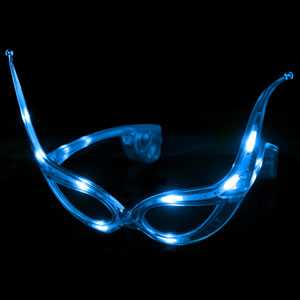 LED Cat Eye Glasses - Blue